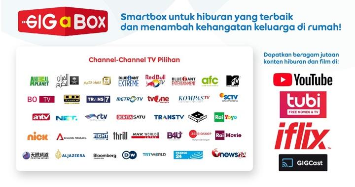 GIGaBOX Paket WiFi dan TV Berlangganan Indosat Gig