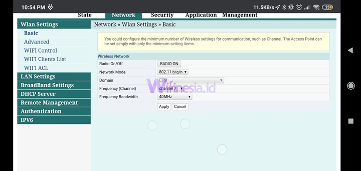 Halaman Network Dari 192.168.1.1 Login Indihome Username Admin dan Password
