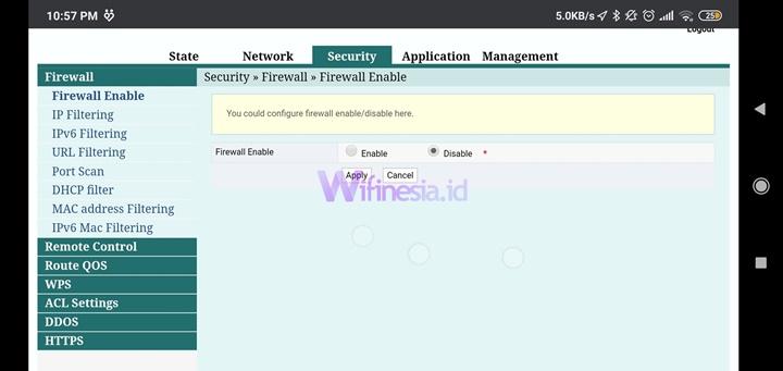 Halaman Security Dari 192.168.l.l Login Indihome Username Admin dan Password