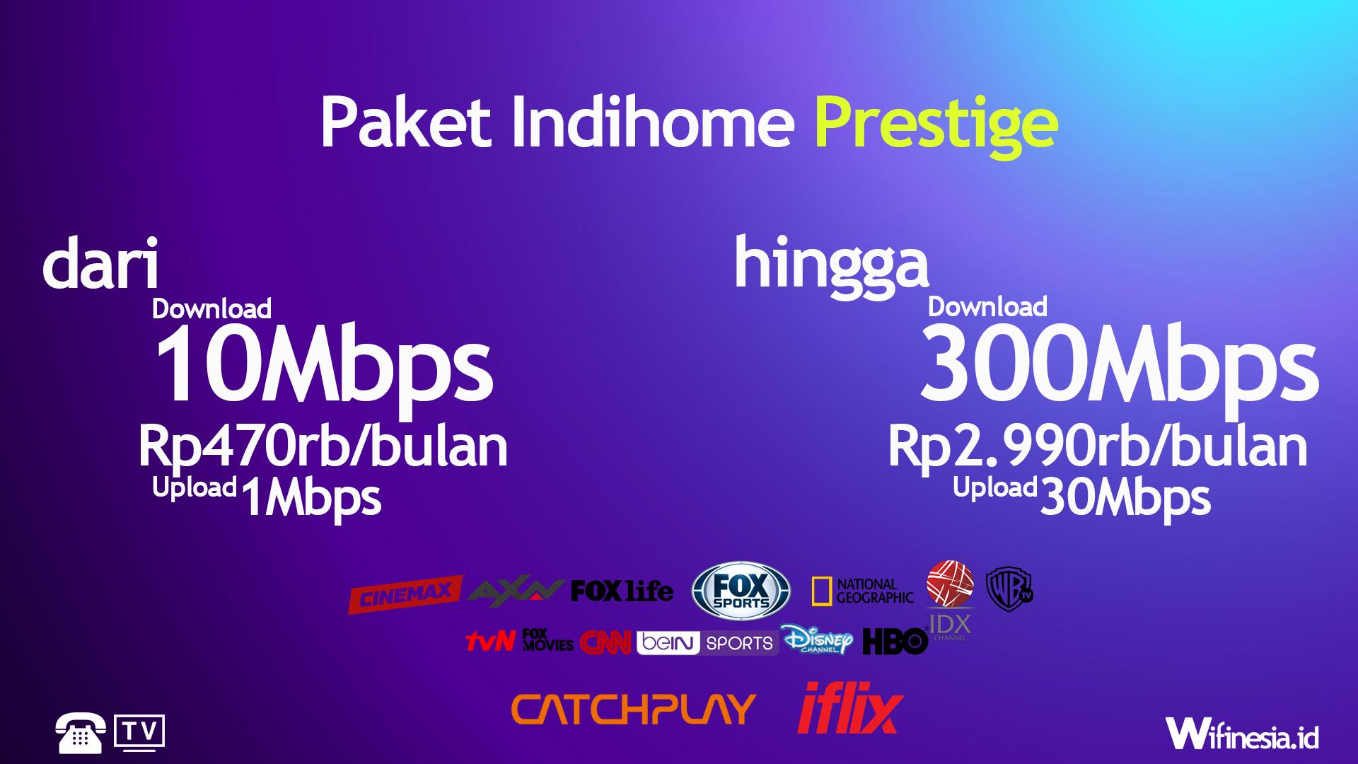 Harga Paket IndiHome Prestige