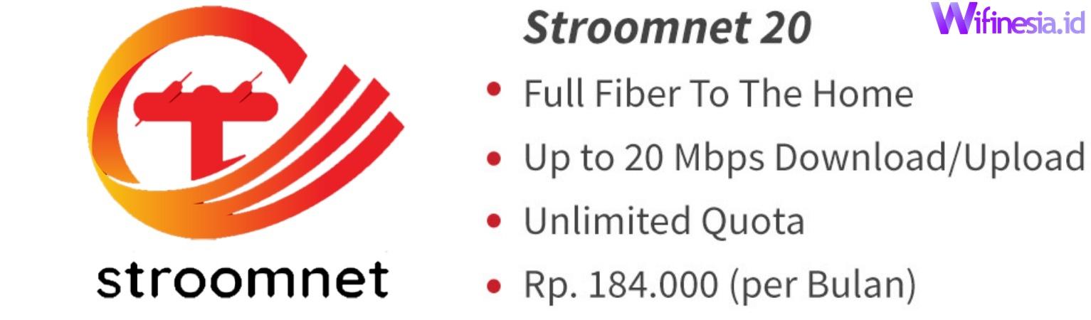 Harga Paket Stroomnet 20 Layanan Internet WiFi Murah Untuk Di Rumah Dari PLN Icon+