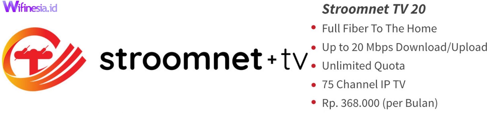 Harga Paket Stroomnet + TV 20 Berlangganan Jabodetabek