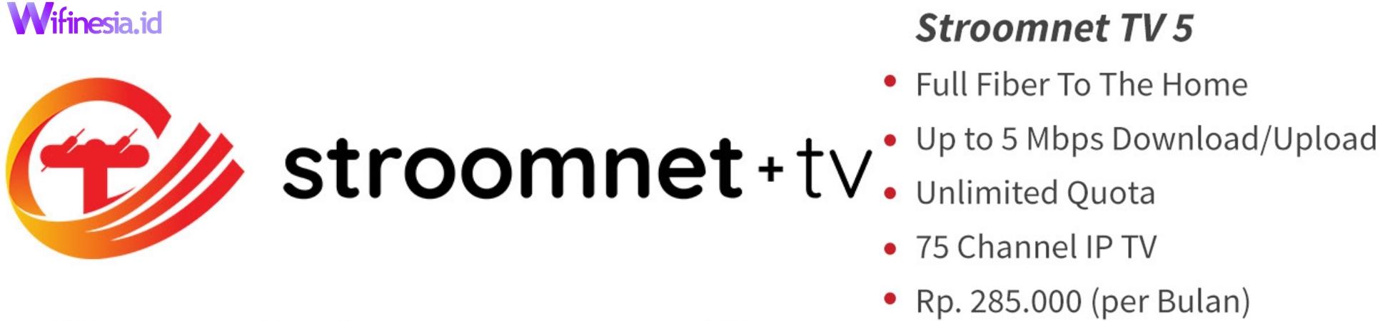 Harga Paket Stroomnet + TV 5 Berlangganan Jabodetabek