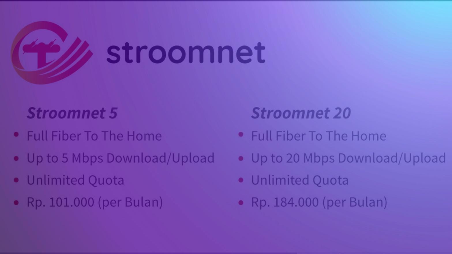 WiFi Murah 100 Ribuan Paket Internet Rumah 10 & 20 Mbps