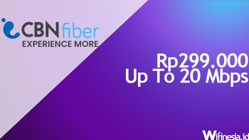 harga pasang wifi murah CBN Fiber 20 Mbps
