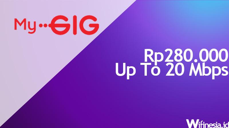 internet wifi murah Indosat GIG 20 Mbps