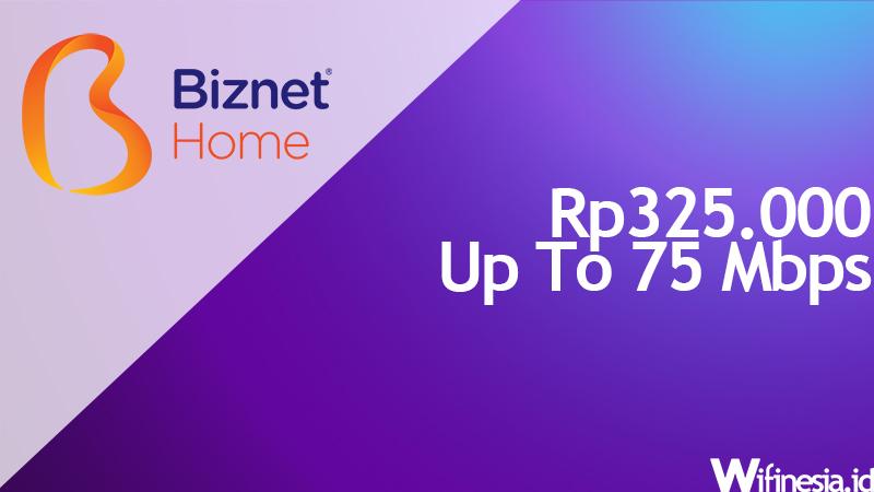 paket wifi murah untuk di rumah Biznet Internet 1B 75 Mbps