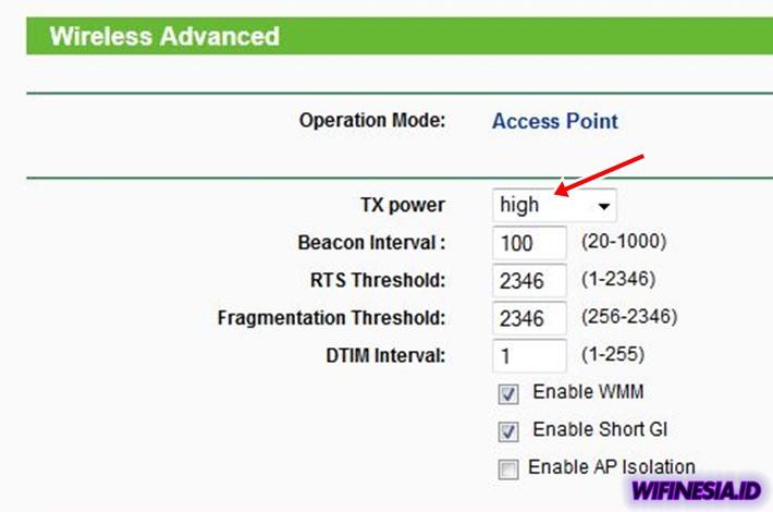 Cara Mengatasi WiFi Lemot Dijamin Ampuh & Sederhana - Meningkatkan Transmission Power