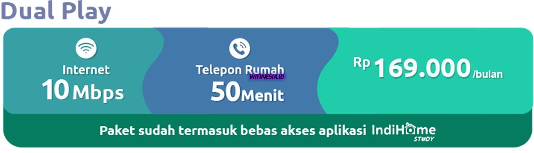 WiFi Murah Dibawah 200rb 2020 IndiHome Dual Play 10 Mbps Promo Learning From Home