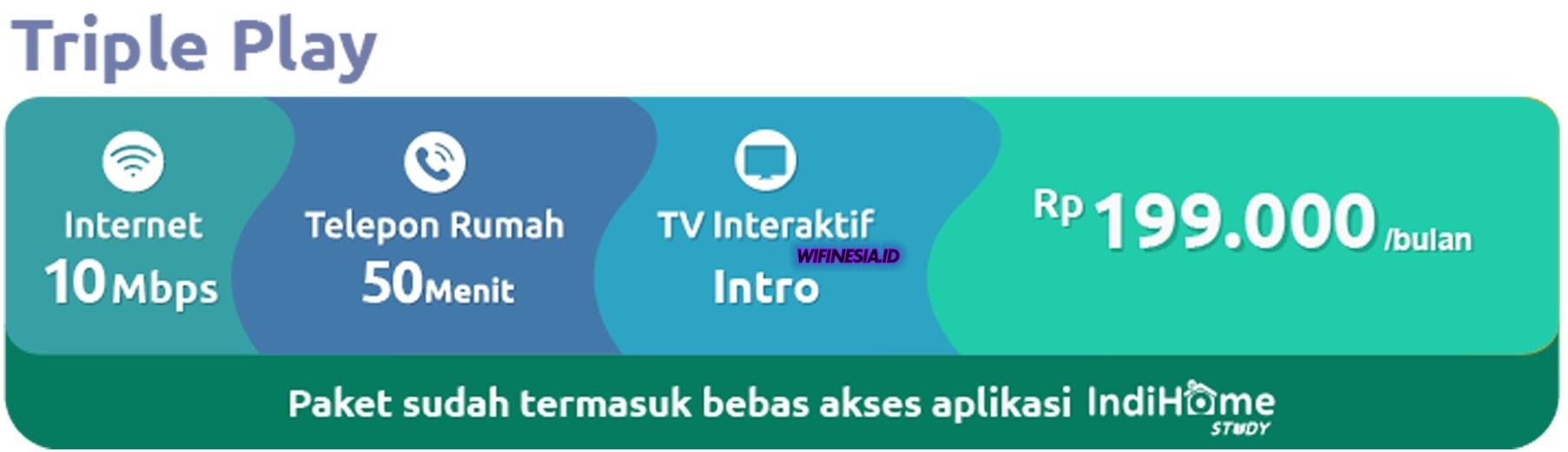 WiFi Murah Untuk Di Rumah 200 ribuan IndiHome Triple Play 10 Mbps Promo Learning From Home