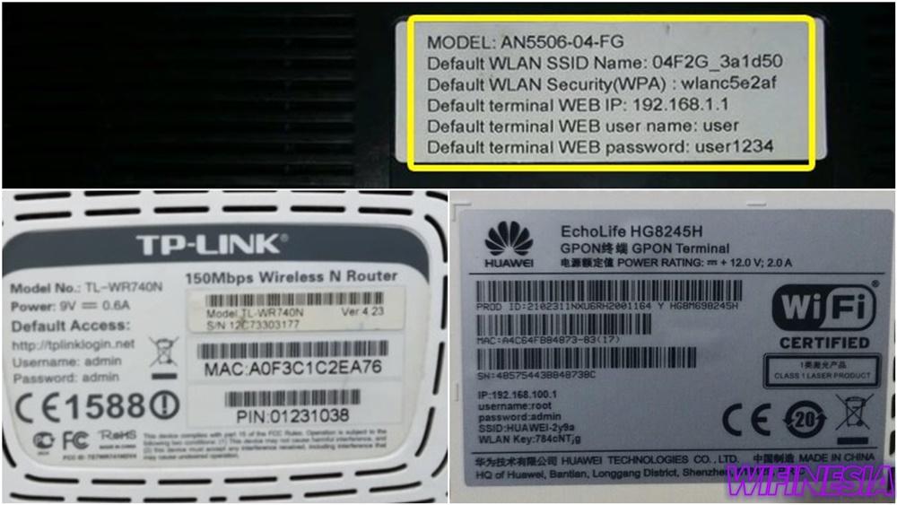 Cara Mengganti Password WiFi Semua Provider - Stiker Label Informasi Modem Router